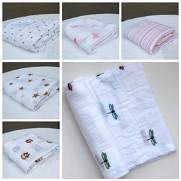 Wholesale Baby Muslin Blanket Aden Anais Baby Swaddle Wrap Blanket Towelling Blanket Aden Anais Swaddling Ins Cotton Blankets Robes Quilt F308