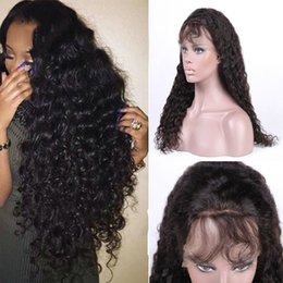Brazilian Virgin Human Hair Wigs For Black Women Deep Wave Lace Frontal Remy Hair With Natural Hairline Crochet hair Closure Free Shipping