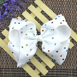 9 style JOJO Princess Bowknot Ribbon printing Head Clip 8 inch large ribbed bowknot clip Christmas Halloween show head flower