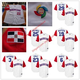 Wholesale Dominican Republic World Baseball Classic Jersey Adrian Beltre Gregory Polanco Jose Bautista Manny Machado Nelson Cruz Robinson Cano St