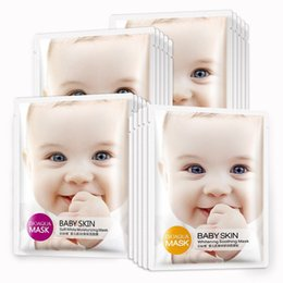 BIOAQUA baby flesh whitening and moisturizing and repairing carry bright color of skin contractive pore acne removing silk mask skin care pr