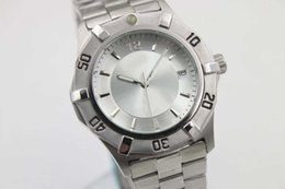 Wholesale Hot Buy NEW mens Luxury brand quartz white time mens watch link m stainless steel band white dial AAA quality