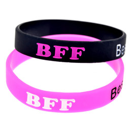 Wholesale 100PCS Lot Best Friends Forever Silicone Wristband Bracelet Perfect To Use In Any Benefits Gift