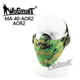 Acheter en ligne Crâne gardes de visage-WoSporT 900D Nylon Lower Half Face Protect Masque de sécurité Tactical Gear Pour Airsoft tissu imperméable CS War Game Cycle de paintball masques de crâne