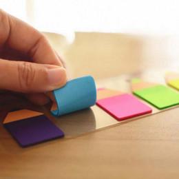 10 ensembles / lot de bonbons en plastique Crayon de couleur Stub Forme Memo Pad Fluoresc Sticky Notes Post It Index de page avec 15 Cm Rulers School à partir de note crayon fournisseurs