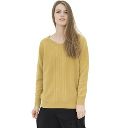 Wholesale Cashmere Sweaters Women S Clothing - 100% Pure Cashmere Wool Sweater Women Long Sleeve Loose Plus Size Thickening Cotton Knit Clothing Pull Twisted Christmas Sweater