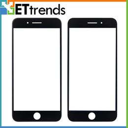 Iphone vidrio de alta calidad en venta-Vidrio externo de la alta calidad para el iPhone 7 más la lente de cristal delantera de cristal de la lente del tacto que la pantalla blanca / el negro libera el envío de DHL