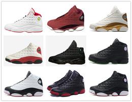 retro 13 basketball shoes DMP Black cat play off DB Heiress red velvet HOF grey toe he got game Sports Shoes men women
