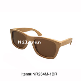 popular handmade pure bamboo sunglasses with brown polarizing lens
