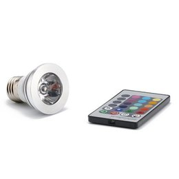 3W RGB Spotlight LED Bulb 16 Color Changing Bulb Light Lamp Bulb 85-265V + Remote Control E27 GU10 MR16 E14 GU5.3 3W RGB Light