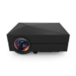 Descuento línea de hd Venta al por mayor-mini HD portable del USB SD del VGA de la PC del teatro del cine del cine del proyector de HD LED HDMI GM60 LÍNEA libre de HDMI