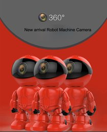 Promotion ip ios came 30pcs Maxde 2017 Nouveau Wireless Red Robot WIFI Caméra IP P2P CCTV Cam Baby Monitor Surveillance HD H.264 Objectif IR pour Android iOS