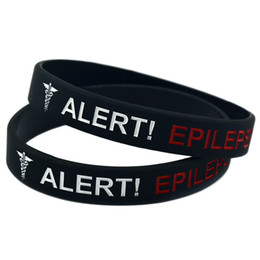 Wholesale 100PCS Lot Medical Alert! Epilepsy Awareness Wristband, Great For Daily Reminder By Wearing This Colourful Bracelet