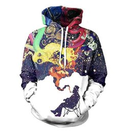 Wholesale Graffiti Hoodies Artistic Jazz Brand Clothing D Abstract Art Smoking Hoodie Hip Hop Galaxy Hooded Men Women Korean Sweatshirts