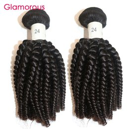 Glamorous 2Pcs Brazilian Virgin Human Hair Weaves Peruvian Indian Malaysian Spiral Curly Hair Extensions Africa Popular Style Remy Hair Weft