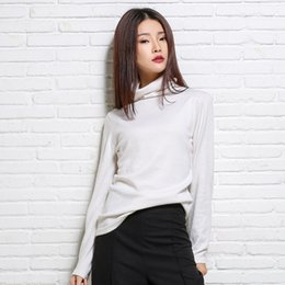 Wholesale Really SALE Fashion Women s Fine Wool Knitted Turtleneck Liberal Collar Pullover Sweaters Pullovers Full Sleeve Spring
