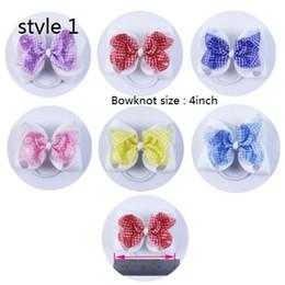 5 style available 4inch Plaid Cute Girls Hair Bow Grosgrain Ribbon Hair Accessories for Headband Boutique Hair Bow
