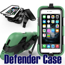 Wholesale 3 in Shockproof armor Defender Case Robot Heavy Duty Cover With clip belt for iphone s plus case galaxy s7