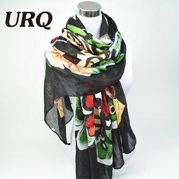 2017 foulards en coton de marque de gros Grossiste-Marque Designer 2016 luxueux écharpe papillon Femme Long Twill Coton Big Echarpes Châle X9A18436 foulards en coton de marque de gros à vendre