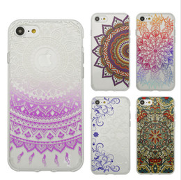 Wholesale Henna Flower Paisley Tribal Transparent Cover Phone Case For Iphone Plus Shell Soft Shell Phone Sets TPU Creative Arts Inclusive Cases