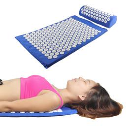 Wholesale Acupressure Massager Mat Pillow Relieve Stress Pain Acupuncture Spike Yoga Mat with Massage Pillow Massager Mat
