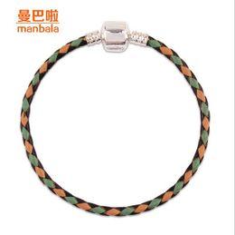 Genuine leather necklace fashion crystal bracelet wholesale