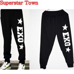 Wholesale New KPOP Arrival EXO Chanyeol Baekhyun Black Long Dance Casual Pants Trousers