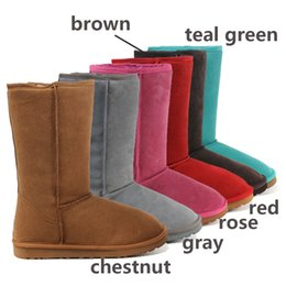 Wholesale 2017 Classic Tall Boots winter warm shoes Famous short snow boots Sheepskin ladies boots for australian womens colors choices