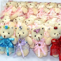 Wholesale Soft Teddy Bears Wholesalers - Plush toys Cartoon teddy bear Flower bag moppet Holiday Expression tendresse gift Bouquet doll High 10-12 cm 100%Good quality