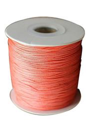 0.8mm Coral Pink Rattail Braid Nylon Cord Jewelry Accessories Making Macrame Rope Beading Shamballa Bracelet String 200m=1Roll