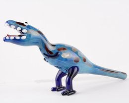 Wholesale New Arrival Colored Dinosaur Glass Pipes Artistic Smoking Burner Cheap Hand Mini Glass Pipes For Dry Herb