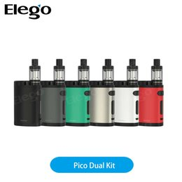 Wholesale Eleaf Pico Dual Kit W with battery ml Melo mini tank A Quick charge capability with Avatar quick charger