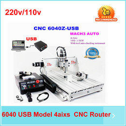 Wholesale 2016 hot cnc engraving machine AXIS CNC router with KW spindle USB port woodworking water jet cutting machinery