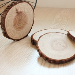 Wholesale set of Natural wood big coasters Slices Pine Wood coasters Slices Rustic Tree Branch Slices for Craft high cm