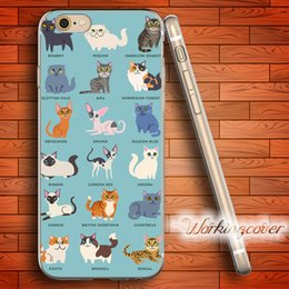 Coque Cartoon Cats Kittens Soft Clear TPU Case for iPhone 7 6 6S Plus 5S SE 5 5C 4S 4 Case Silicone Cover.