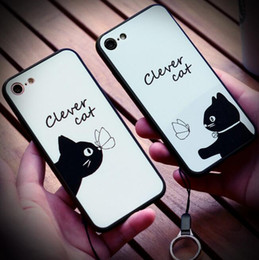 New Hot men women couples clever cat sweet love tpu Phone Case For iPhone 7   iphone 7 plus