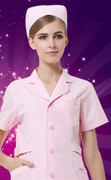 Package mail nurse short sleeve pink white beauty salon hospital pharmacy overalls uniform dental oral clothing for summer wear thin