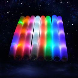 Conduit mousse bâton clignotant à vendre-LED barres colorées 48CM conduit mousse stick clignotant mousse bâton lumière acclamant lumières mousse stick concert Lumière bâtons Free EMS A01