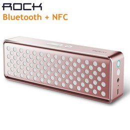 Mini-roches en Ligne-Qualité 100% Original ROCK Bluetooth Speaker Haut-parleur sans fil en métal coloré NFC Mega Deep Bass Stereo Mini haut-parleur avec Mic 45