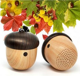 Portable Nut Bluetooth Speaker For Computer Mini Wooden Wireless Loudspeaker Bluetooth Receiver Subwoofer For Cars Xiaomi Universa Subwoofel
