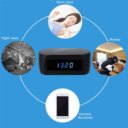 Ip ios came à vendre-2017 HD 1080P Horloge WIFI Hidden Camera Nanny Cam Wireless P2P IP Caméras de sécurité Night Vision Video Recorder Support IOS / Android PC iPad