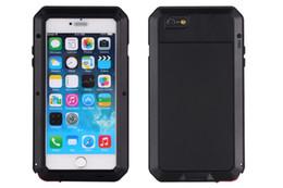 Extreme Waterproof Metal Aluminum Case For iphone 6 6 plus case +Gorilla Glass +Support Fingerprint Identification