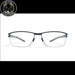 La limpieza de lentes de gafas en venta-Eyewear Venta al por mayor Handsome Acetato Metal Gafas Hombre Diseñador Marco Grandes gafas Lentes limpias Espejo Oculos de Grau Mykita Karsten