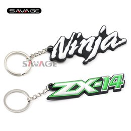 Motorcycle accessories Rubber Keychain KeyRing Key Ring Chain logo For KAWASAKI NINJA ZX6R ZX9R ZX10R ZX12R ZX14 ZX-14R