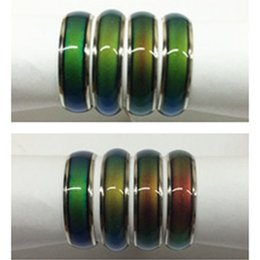 100pcs women ring Vintage Creative Emotion Mood Ring Color Changing Personality Rings For Men Party Gift wholesale jewelry