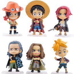 Wholesale Anime One Piece Action Figures Luffy Shanks Ace PVC Figures Toys set Q version Finished Product