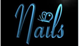 Wholesale Nails Butterfly Beauty Salon Decor Bar Beer pub club d signs LED Neon Sign man cave