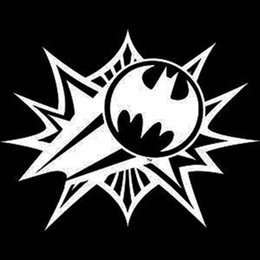 Cartoon Bat Signal Sticker Decal Vinyl Car Sticker Car Styling Motorcycle Laptops Wall Art