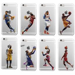 2017 cas transparents pour iphone 4s Étoiles de basket-ball Kobe Bryant Étui transparent souple TPU pour iPhone 7 plus 6 6S Plus 5 5S 5C 4 4S couverture arrière cas transparents pour iphone 4s sur la vente
