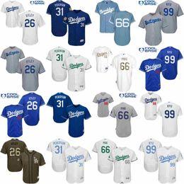 Wholesale Men s Los Angeles Dodgers Chase Utley Joc Pederson Yasiel Puig Hyun Jin Ryu Kind of Edition Baseball Jersey Stitched Size S XL